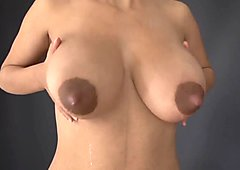 2 girls lactating breasts -No pussy