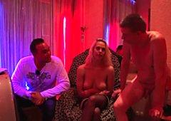 Amsterdam redlight hooker jizzed on camera