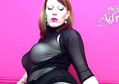 Miss Adrastea black seamed Pantyhose