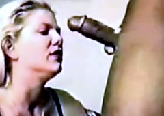 80's Blonde Housewife is a BBC Slut