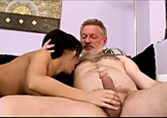 Grandpa hardcore compilation with young chicks taking dick
