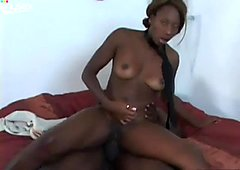 Ebony princess with thick thighs rides BBC shaking her phat ass