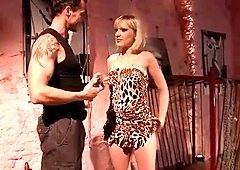 Blonde getting punished hard