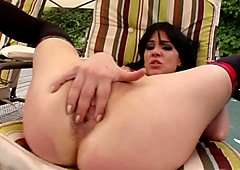 Hungry cum lover Shannya takes in two hard cocks
