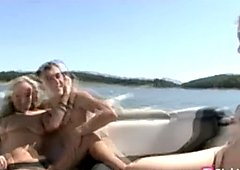 Outdoors boat sex