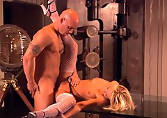 Derrick got her blondie date make strangled noises as he smashes her rough
