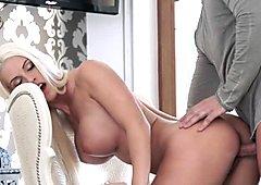 Busty euro beauty gets pierced pussy fucked