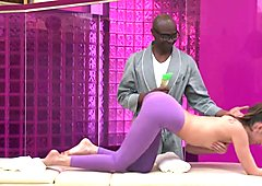 Dirty Masseur: Riley Reid's Big Black Cock Massage