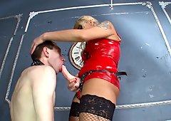 Strict blonde mistress
