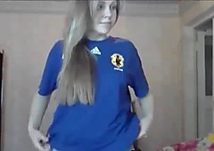 Two cute looking teens undressing on webcam