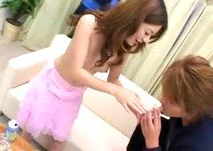 Gokkun Girl Kokoro Amano Cum Swap Game with 2 Men !