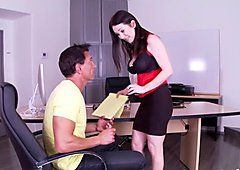 Footfetish milf banged after hours at office