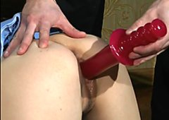 Blonde slave girl serves her Master