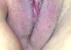 Katherine Brown.. Looking inside at her huge pink cunt cavity.
