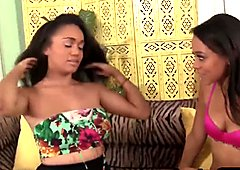 Gorgeous ebony babes in hot lesbian action