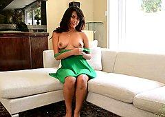 Sophia Leone masturbates her hot little pussy