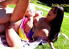 Let's Fuck Outside - Busty Hot Babe Outdoor Fuck in Public Park
