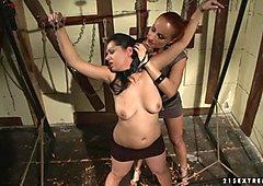 Katy Borman humiliates her sexy ass slave