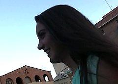 Carolina Abril in Spanish Waitress Fucks For Cash