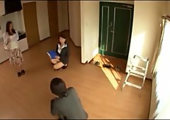 Japanese wife real estate agent upskirt and fucked - subtitled