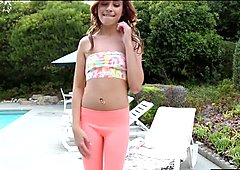 Watch Kaylee dance her clothes off