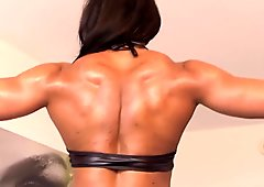 Asha Hadley FBB Sexy Flexing BEST ABS EVER