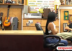 Busty ghetto pounded by horny pawn man in the pawnshop