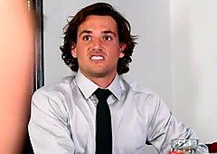 DP Star 3 - Hot Brunette Shane Blair Deep Throat Blowjob