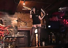 Jeny Smith naked in public and on stage