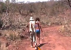 Sexy African babe gives a BJ and gets drilled by a BBC