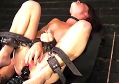 Teen Kaisey Dean gets tied up and completely destroyed by fuckmachine