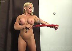 Muscular Jill Jaxen,