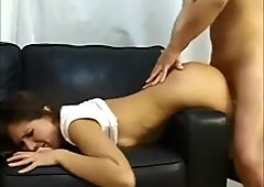 Amateur milf ass fuck and cum in mouth