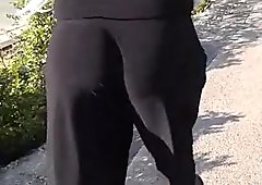 Walking with a sexy FAT ASS