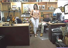 Customers wife stuffed by horny pawn man at the pawnshop