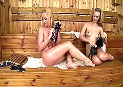 Sauna Lesbians in HD Pt2 (720p)