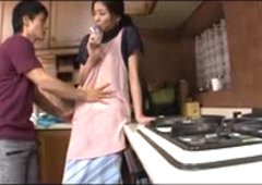 slender housewife taken by the neighbor boy