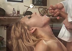 Sexy receptionist Katie Summers fucks at work