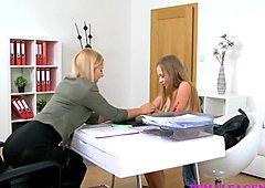FemaleAgent Busty Russians first lesbian orgasm