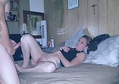 Hot amateurs enjoying a quick fuck