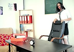 Naughty Schoolgirl Caught By The Teacher