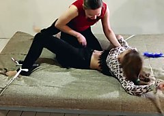 RussianFetish - Two girlfriends. Dina tortures Laura by tickling